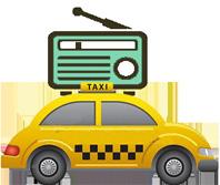 taxi e radio piccola