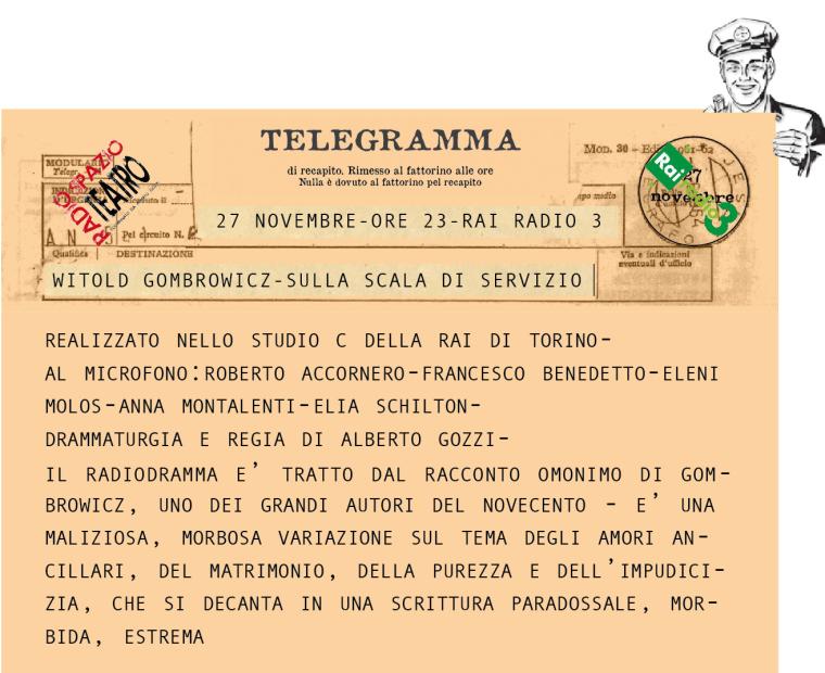 telegramma gombrowicz completo