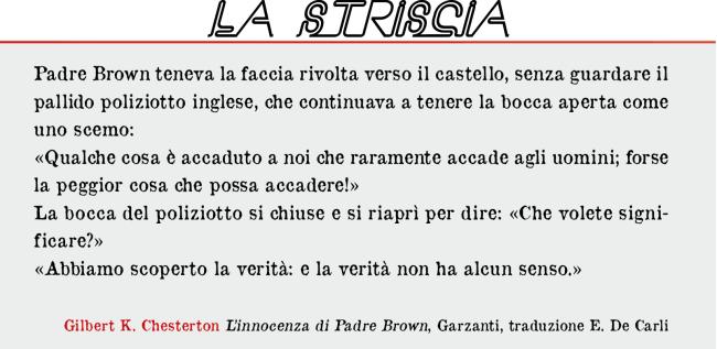 La Striscia. G.K CHESTERTON