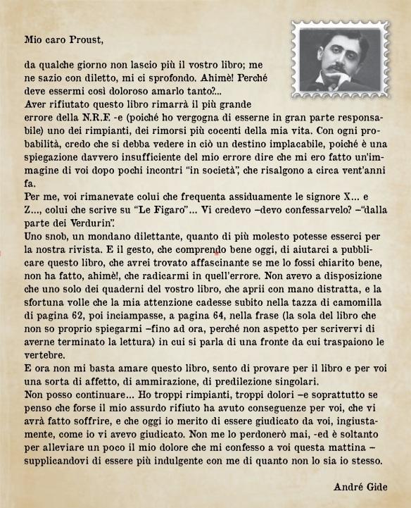 lettera gide proust